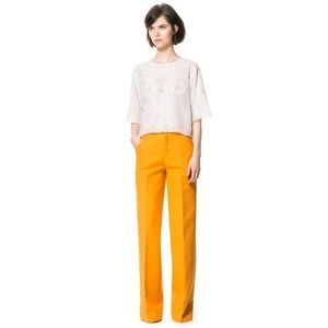 ZARA Woman High Waist Wide Leg Trousers